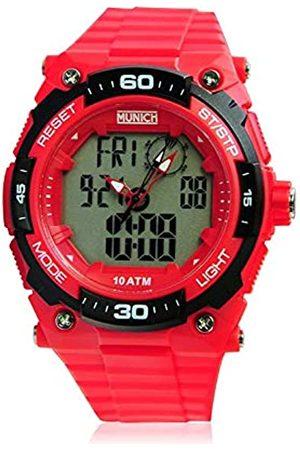 Munich Unisex Adult Digital Quartz Watch with PU Strap MU+107.4A