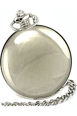 Ravel HUNTER FOB/POCKET WATCH-Chrome Lid/Chain/Clip-Gift Boxed