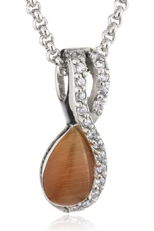 Mike Ellis D1588D/4 Women's Necklace Stainless Steel Zirconia Glass 21 mm