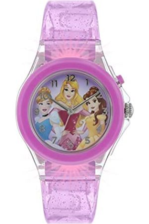 Disney Girls Analogue Classic Quartz Watch with Rubber Strap PN3015
