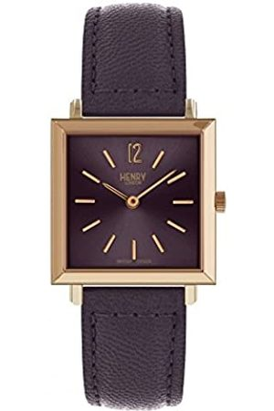 Henry Unisex Adult Analogue Classic Quartz Watch with Leather Strap HL26-QS-0260