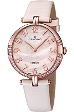 Candino Women's Quartz Watch with Mother of Pearl Dial Analogue Display and Leather Strap C4602/3