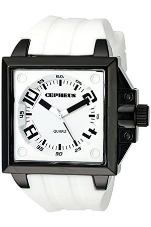 CEPHEUS Men's Quartz Watch with Dial Analogue Display and Silicone Strap CP904-676