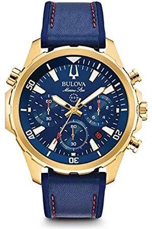 BULOVA Mens Chronograph Quartz Watch with Silicone Strap 97B168
