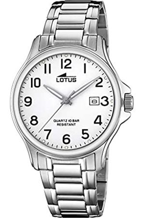 Lotus Mens Analogue Quartz Watch with Stainless Steel Strap 18645/1