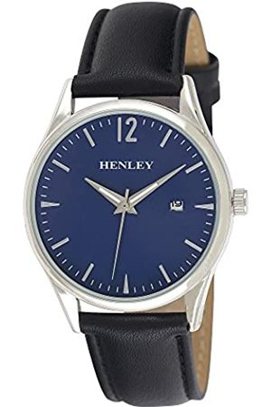 Henley Mens Analogue Classic Quartz Watch with PU Strap H02164.6