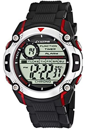 Calypso Men's Digital Watch with LCD Dial Digital Display and Plastic Strap K5577/4