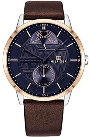 Tommy Hilfiger Mens Multi dial Quartz Watch with Leather Strap 1791605