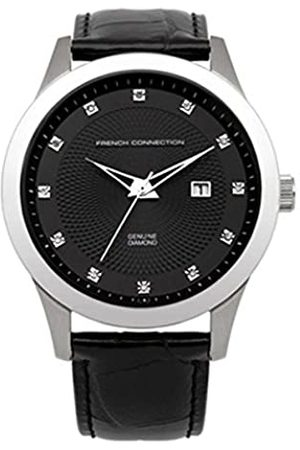 French Connection Men's Quartz Watch with Dial Analogue Display and Leather Strap FC1135B