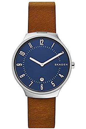 Skagen Mens Analogue Quartz Watch with Leather Strap SKW6457