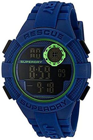Superdry Men's Digital Quartz Watch with Silicone Strap SYG193U