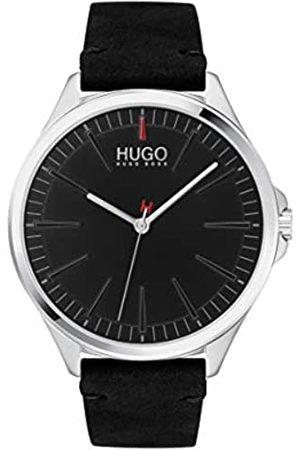 HUGO Men's Analogue Quartz Watch with Leather Calfskin Strap 1530133