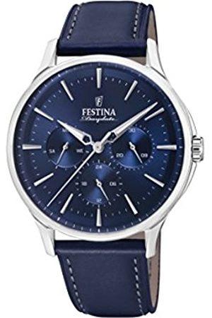 Festina Mens Analogue Quartz Watch with Leather Strap F16991/3