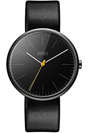 Braun Men's Quartz Watch with Dial Analogue Display and Leather Strap BN0172BKBKG