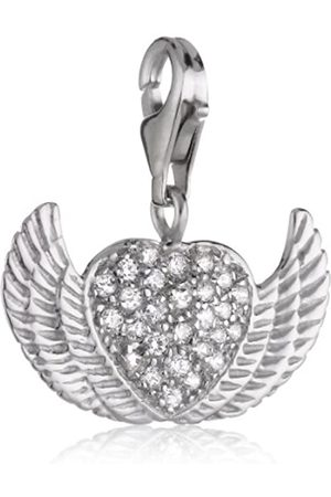 Pasionista Charms Pendant 925 Sterling Cluster Heart with Angel Wings Charm