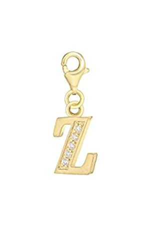 Tuscany Silver Sterling Gold Plated Cubic Zirconia 'Z' Initial Charm