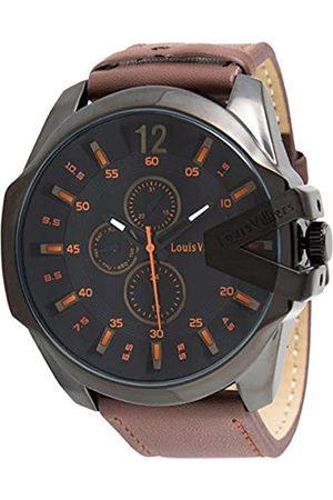 Louis Villiers Unisex-Adult Analogue Classic Quartz Watch with Leather Strap LVAG8912-12
