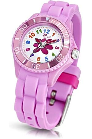 Jo for Girls Flower Quartz Watch for Girls 50m Water Resistant with Silicone Strap