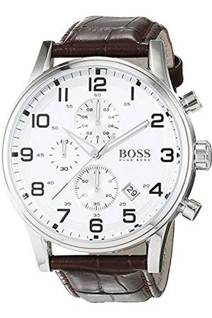 Hugo Boss Men's Chronograph Quartz Watch with Leather Strap – 1512447