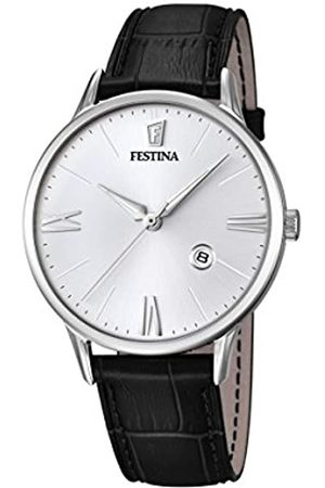 Festina Men's Quartz Watch with Dial Analogue Display and Leather Strap F16824/1