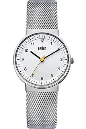 Braun Women's Three Hand Movement Quartz Watch with Dial and Stainless Steel Mesh Bracelet BN0031WHSLMHL