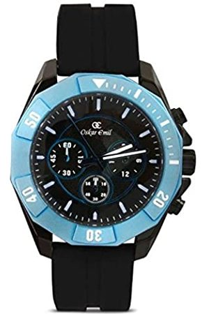 Oskar Emil Sports Men's Quartz Watch with Dial Chronograph Display and Silicone Strap Akron /Blue
