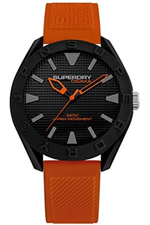 Superdry Mens Analogue Quartz Watch with Silicone Strap SYG243OB