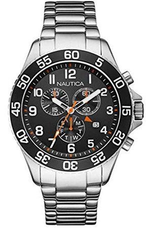 Nautica Mens Chronograph Quartz Watch with Stainless Steel Strap NAI17509G
