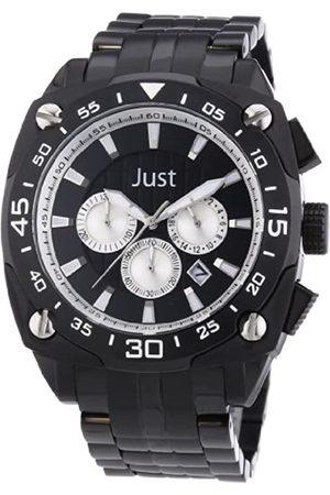 Just Watches Men's Watch XL Analogue Quartz Stainless Steel 48–STG2373Bk-Sl
