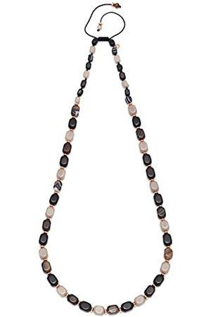 Lola Rose Islington Brown Stripe Agate Black Agate Necklace90cm