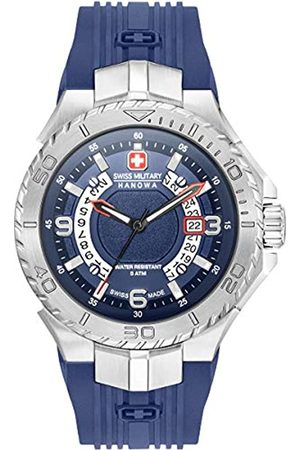 Swiss Military Mens Analogue Classic Quartz Watch with Silicone Strap 06-4327.04.003