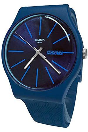 Swatch Mens Analogue Swiss Quartz Watch with Silicone Strap SUON713