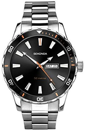 Sekonda Mens Analogue Classic Quartz Watch with Stainless Steel Strap 1373