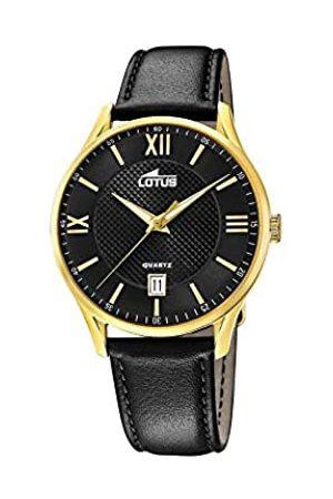 Lotus Mens Analogue Quartz Watch with Leather Strap 18403/D