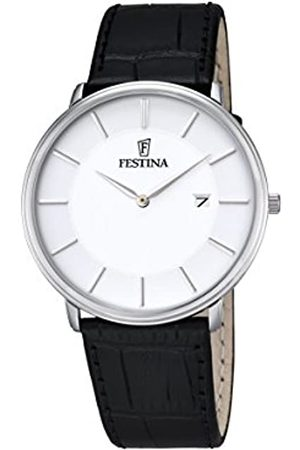 Festina CLASSIC Men's Quartz Watch with Dial Analogue Display and Leather Strap F6839/2