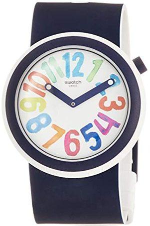 Swatch Mens Analogue Quartz Watch with Silicone Strap PNW107