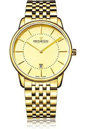 JÉRÔME DREYFUSS Mens Analogue Classic Quartz Watch with Stainless Steel Strap DGB00136/03
