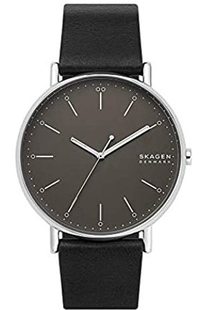 Skagen Mens Analogue Quartz Watch with Leather Strap SKW6528