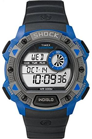 Timex Men's Quartz Watch with LCD Dial Digital Display and Resin Strap TW4B00700