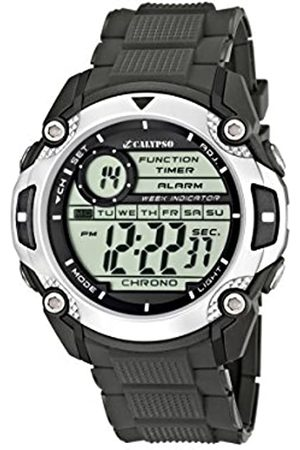 Calypso Men's Digital Watch with LCD Dial Digital Display and Plastic Strap K5577/1