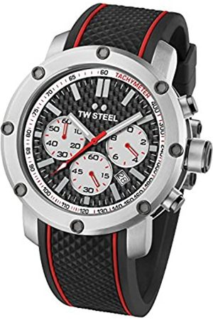 TW steel Men's Quartz Watch with Dial Chronograph Display and Rubber Strap TS2