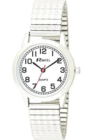 Ravel Womens Analogue Classic Quartz Connected Wrist Watch with Stainless Steel Strap R0232.11.2