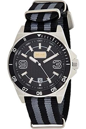 Roberto Cavalli Men's Analogue Quartz Watch with Textile Strap JC1G014L0025