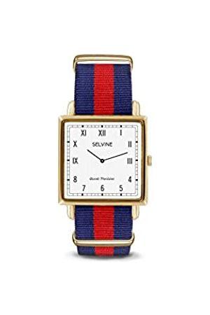 Selvine Unisex-Adult Analogue Classic Quartz Watch with Nylon Strap SPRE5
