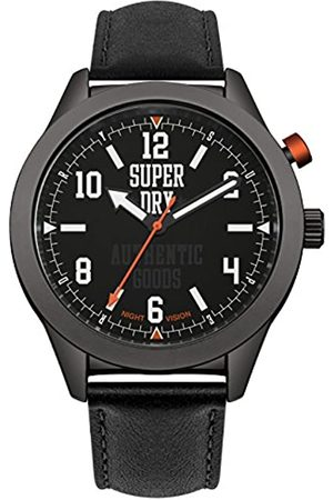 Superdry Mens Analogue Quartz Watch with Leather Strap SYG187BB