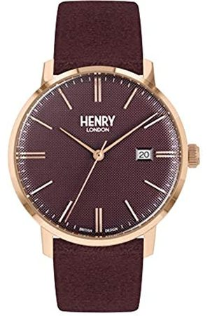Henry London Unisex Adult Analogue Classic Quartz Watch with Leather Strap HL40-S-0368