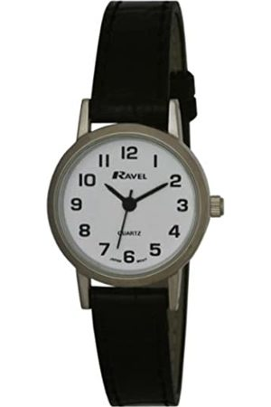 Ravel Large Case Fashion on PU Strap Women's Quartz Watch with Dial Analogue Display and Plastic Strap R0102.02.2
