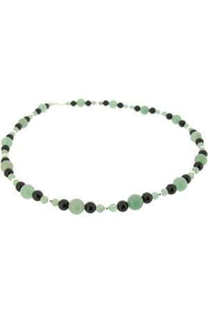 Earth Aventurine and Black Onyx Beaded Necklace at 45cm in Length