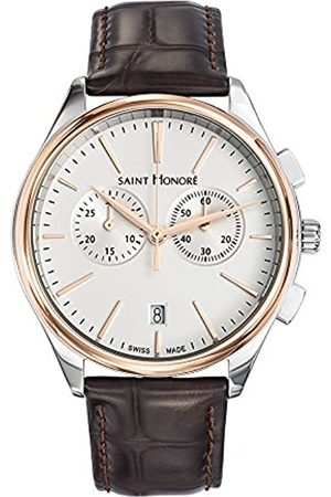 Saint Honore Men's Analogue Quartz Watch with Leather Strap 8850176AIR