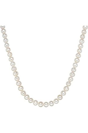 Valero Pearls Sterling Silver 925 rhodium-plated Ladies Necklace with Freshwater cultured Pearls 00340315